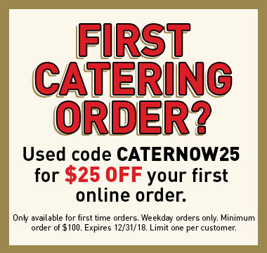 $25 off your first catering order